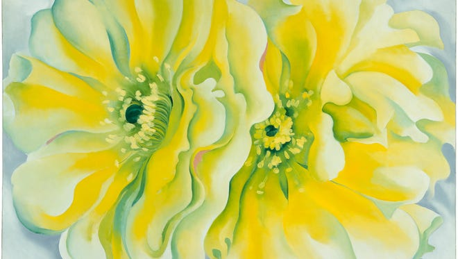 Georgia O'Keeffe (1887–1986). Yellow Cactus, 1929. Oil on canvas, 30 x 42 in. Dallas Museum of Art, Texas. Patsy Lucy Griffith Collection, Bequest of Patsy Lucy Griffith. 1998.217. (O'Keeffe 675) © Copyright 2014 Georgia O'Keeffe Museum.