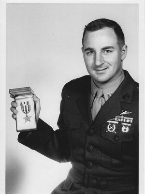 Capt. Rick Wilson with his Silver Star.