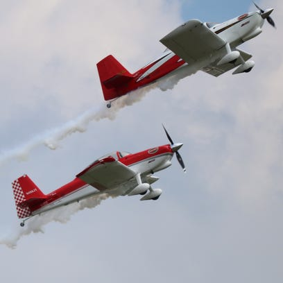 RV-8 Redline Airshows perform choreographed aerobatic