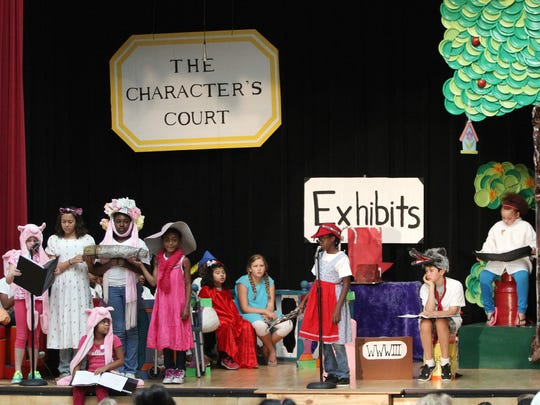 "Third-graders perform ""The Trial of the Big Bad Wolf"" in July at Clinton Elementary School in Columbus, Ohio. It was part of a five-week summer reading program to help failing third-graders improve their skills so they can move on to fourth grade."