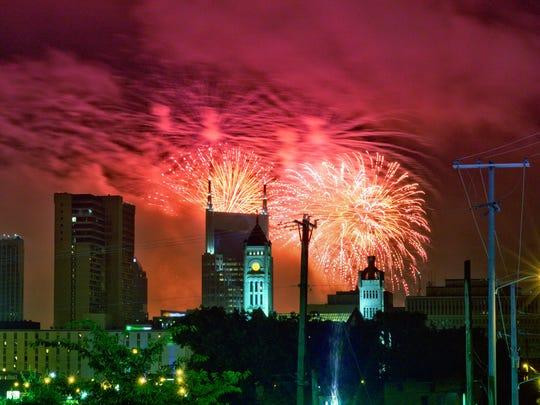 Fourth of July celebration in downtown Nashville
