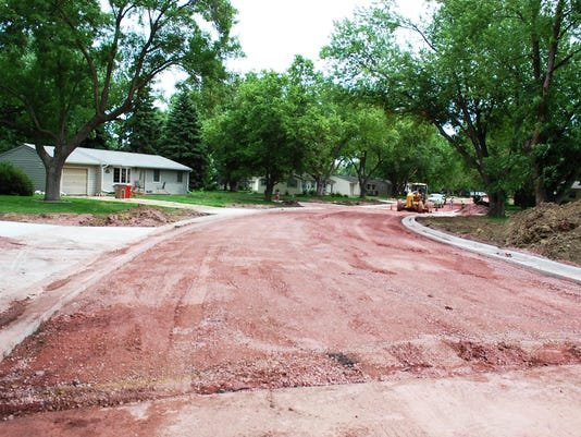 Custer Parkway construction