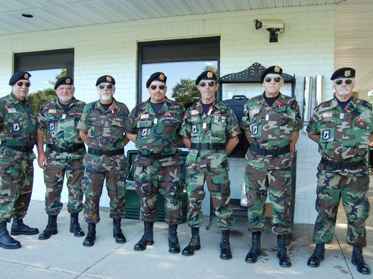 The Romulus VFW Honor Guard was on hand for the Old Glory golf outing to benefit war veterans.