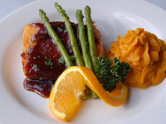 Salmon with ginger soy sauce is a chop239 stalwart, and goes great with this week's wine.