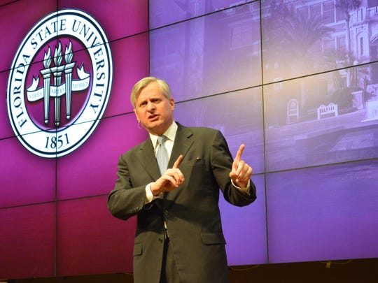 Presidential historian Jon Meacham, a Pulitzer prize-winning author of major works on world leaders, gave a talk last week at Florida State University.