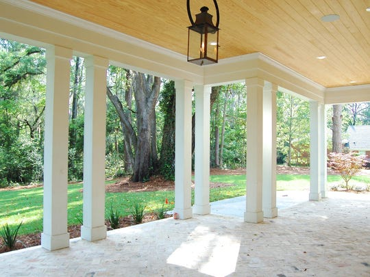 Back porch at the million dollar home at 2217 Thomasville Road.