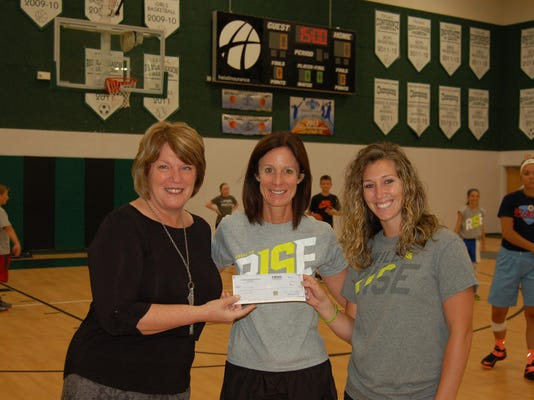 Atlantic Christian Check Presentation to Fellowship of Christian Athletes DS