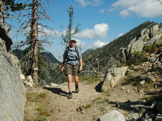 Elkhorn Crest Trail's Nip and Tuck Pass slips through a crack in the granite ridgecrest.