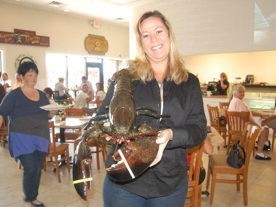 "Mary Beth Keslinger, aka ""The Lobster Lady."""