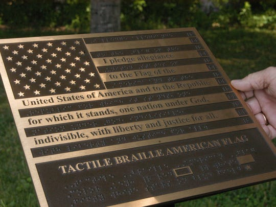 This braille flag donated by the Vietnam Veterans of America Chapter 240 Women's Auxiliary, was recently erected behind the Sumner County Veterans Memorial in Gallatin. VVA has been holding a series of organizational meetings in Williamson County. The next gathering is set for March 14, 2019, at the Williamson County Public Library's main branch in Franklin.