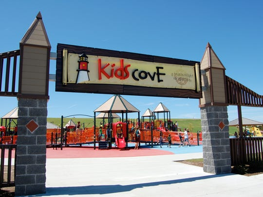 The Kids Cove playground at Mount Trashmore is a park built on a former landfill. The park also has two man-made mountains, two lakes, a skate park and paths. It's one of a number of free places to visit in Virginia Beach.
