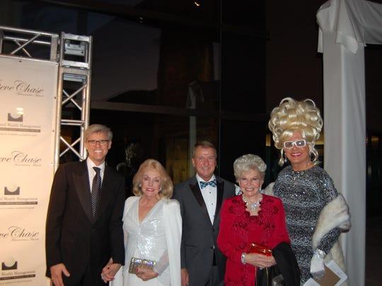 From left: Jerry Green, Peggy Cravens, Gary D. Hall, JoAnn Davis, Bella Da Ball.
