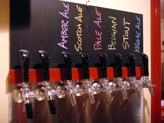 Knucklehead's six craft brews are ready to tap.