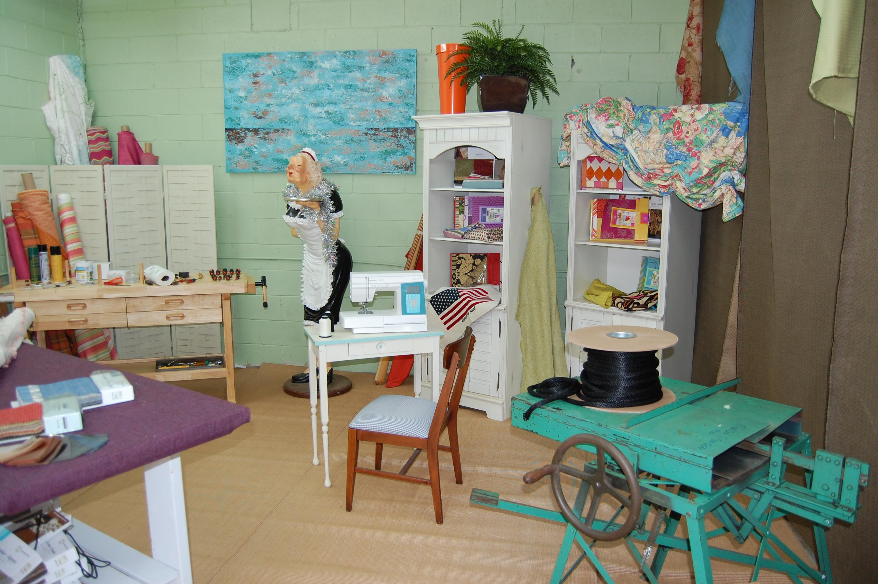 Soothing Wall Colors Create A Calming Ambience In A Garage Converted Into A  Sewing Studio. (Photo: DIY/Scripps Network)