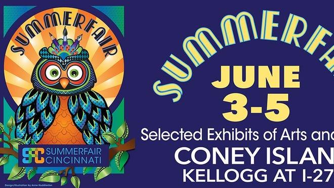 Artist Anne Huddleston created this year's poster for Summerfair Cincinnati.