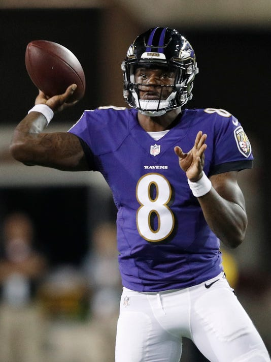 lamar jackson shows some flashes but inconsistent in ravens debut