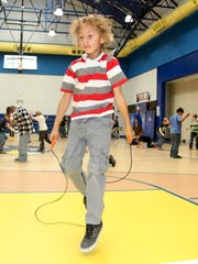First graders at Ocotillo Elementary jumped rope for heart health and raised money for the American Heart Association.
