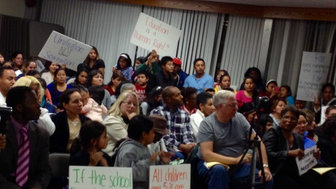 Members of East Ramapo's Latino community Tuesday urge the superintendent to apologize for recent remarks about immigrants dragging down the graduation rate.