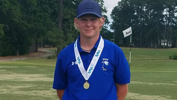 Wren High School junior Brandon Masters overcame a four-shot deficit to win the Class AAAA boys golf state tournament Tuesday at the Hackler Course in Conway.