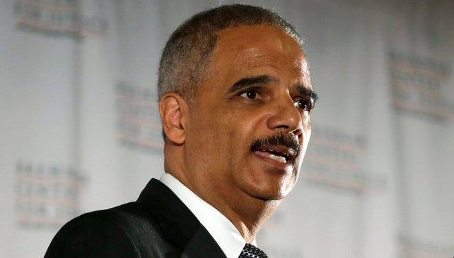 U.S. Attorney General Eric Holder delivers the keynote speech at New York University's law school Sept. 23.