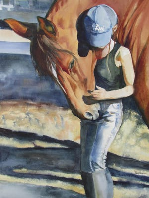 All About the Horse, a collaborative exhibit or horse-related artwork, is featured in a gallery reception on Sept. 10 from noon to 2 p.m.