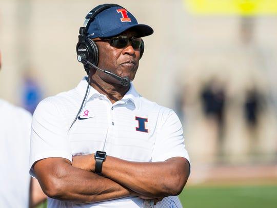 Lovie Smith is in his second season coaching the Illinois