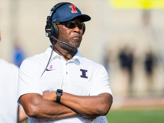 Lovie Smith is in his second season coaching the Illinois