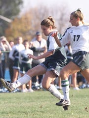 East Brunswick's Heather O'Reilly (left) in 2001.