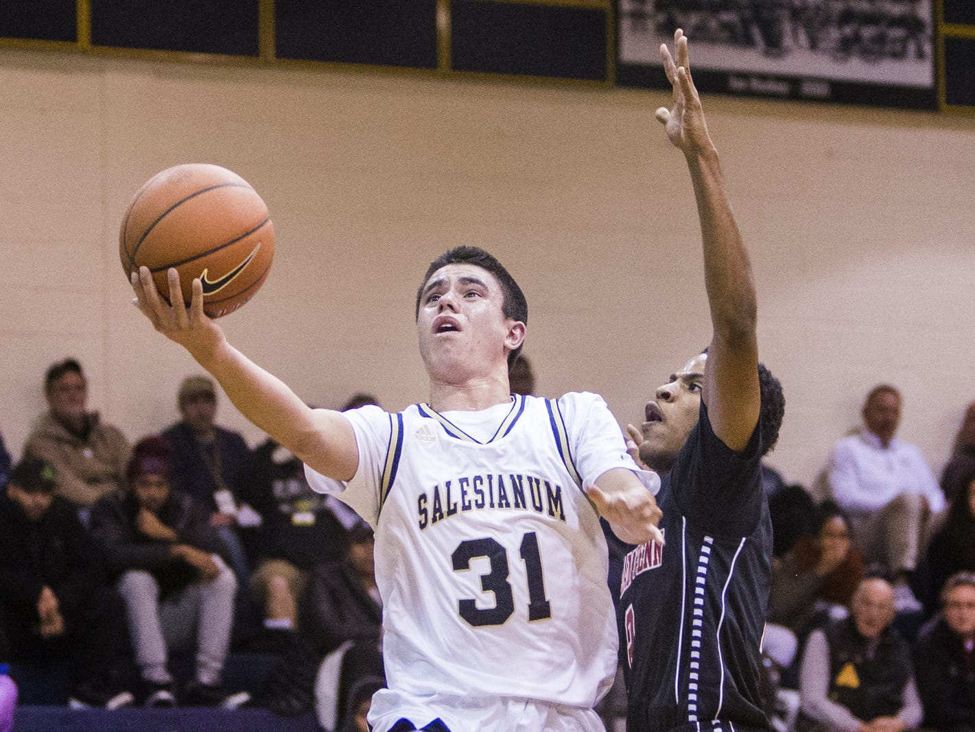Salesianum's Michael Kempski scores against William Penn on Dec. 6. The Sals (10-5) have won three straight to move into The News Journal Top 10 at No. 8.