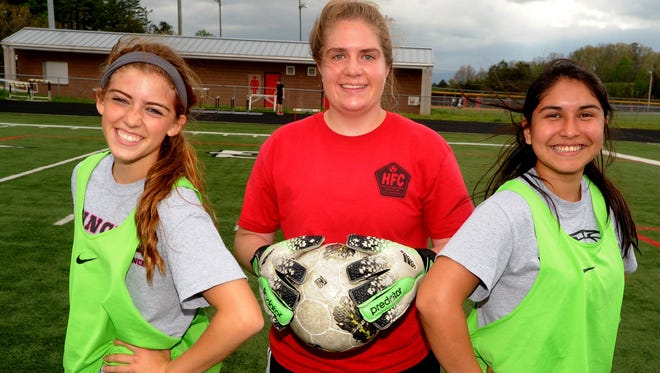 North Buncombe's Lindsey Greene, far left, is part of the N.C. Soccer Coaches Association 3-A all-region team.