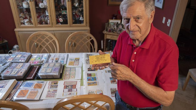 George Hiles holds the rarest stub in his vast ticket collection: one from a 150-pound football game between Ohio State and Illinois in 1948. (Ohio State and Illinois fielded teams for a season with players weighing no more than 150 pounds.) The 78-year-old Westerville resident has stubs from every Buckeyes home game since 1945.