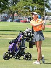 Wylie sophomore-to-be Maddi Olson watches her approach