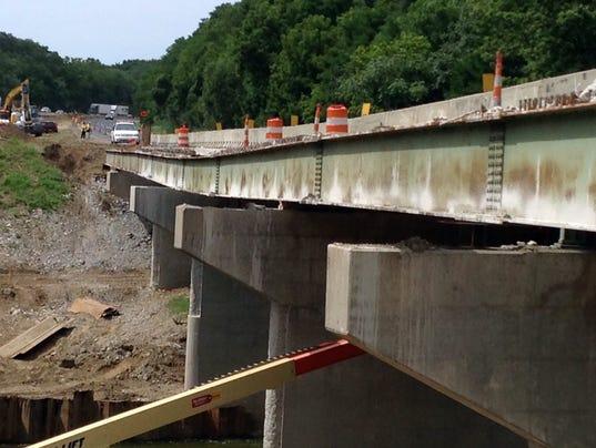 Sinking bridge closes 50 miles of i 65 in indiana