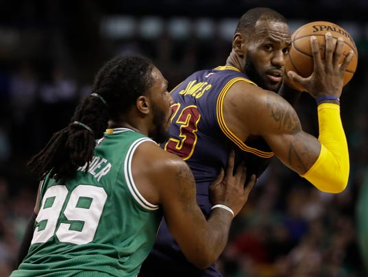 USP NBA: CLEVELAND CAVALIERS AT BOSTON CELTICS S BKN BOS CLE USA MA