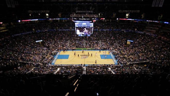 Chespapeake Energy Arena in Oklahoma City.