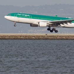 Oops! Taxiing Aer Lingus Airbus A330 clips building at San Francisco