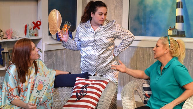 "Actresses perform ""The Dixie Swim Club"" at the Carlsbad Community Theater. The play debuts at 7:30 p.m., Feb. 16 at the theater."