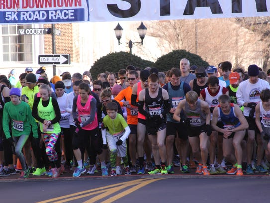 Runners gathered for last year's The Greenville News 5K Road Race. This year's will be this Saturday.
