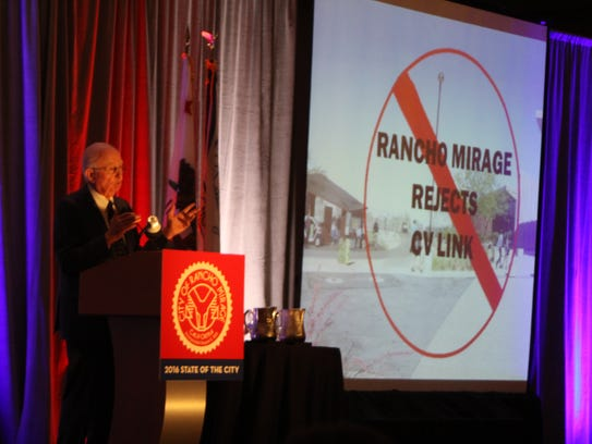 In April 2016, an overwhelming majority of Rancho Mirage residents voted to stop the CV Link from passing through their borders. At the following State of the City address, Dana Hobart discussed the meaning of the election.