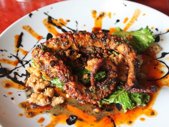 Octopus from Orbs Restaurant.