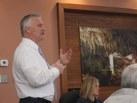 Eddy County Manager Rick Rudometkin speaks about the