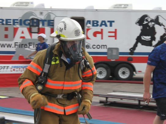 Firefighters from around the country compete in a series