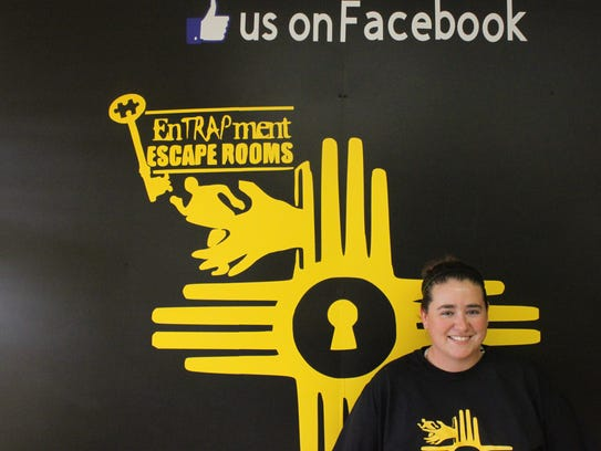 Destini Palen, 25, started Entrapment Escape Rooms