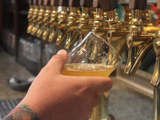 A multi tap is used to serve Guadalupe Mountain Brewing