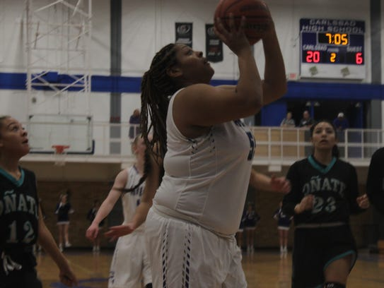 The Carlsbad Cavegirls take on the Onate Lady Knights