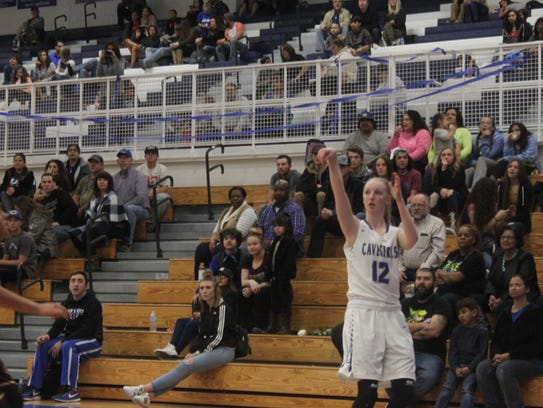 The Carlsbad Cavegirls battle the Gadsen Lady Panthers,