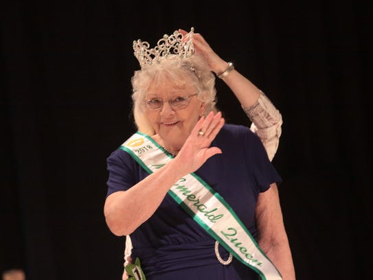 Clara Mobley receives the Emerald Queen crown during