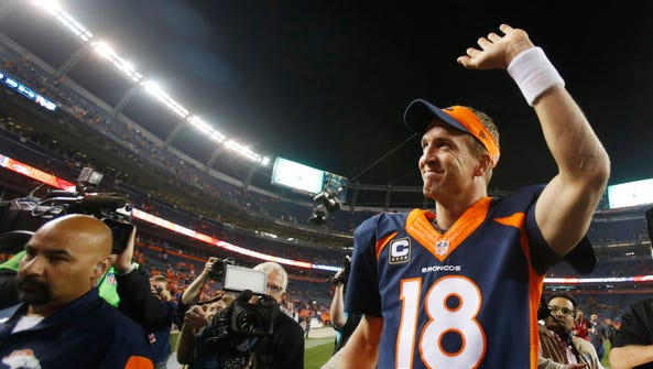 Oct 19, 2014; Denver, CO, USA; Denver Broncos quarterback