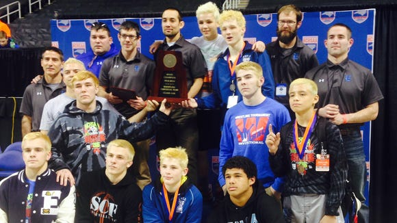 Enka won the NCHSAA 3-A wrestling tournament on Saturday in Greensboro.