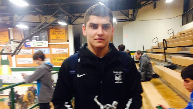 North Buncombe senior Peter Simonovich is the Mountain Athletic Conference Wrestler of the Year.